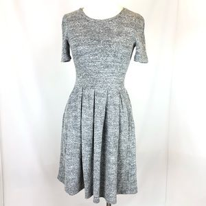 Madewell Cotton Blend Pleated Skater Dress